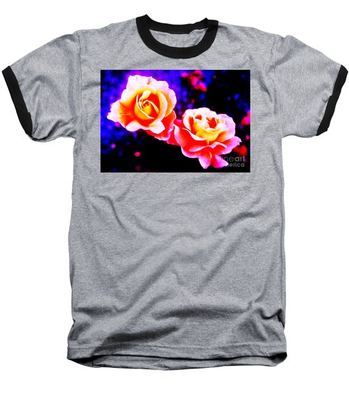 Psychedelic Roses Baseball T-Shirt