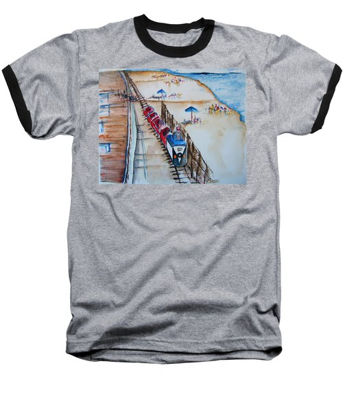Pt Pleasant Nj Sand Train Baseball T-Shirt