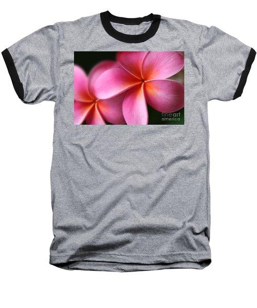 Pua Lei Aloha Cherished Blossom Pink Tropical Plumeria Hina Ma Lai Lena O Hawaii Baseball T-Shirt