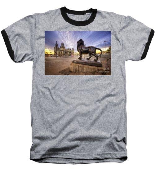 Puerto De Barcelona Sunrise Baseball T-Shirt