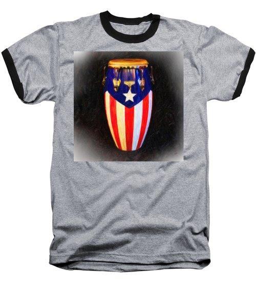 Puerto Rican Bomba Baseball T-Shirt