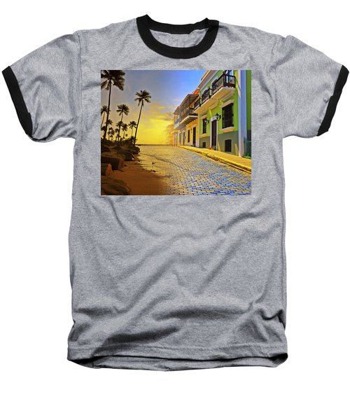 Puerto Rico Collage 2 Baseball T-Shirt by Stephen Anderson