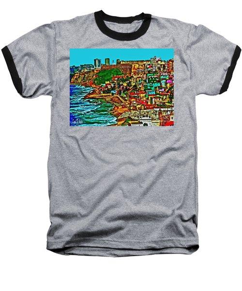Old San Juan Puerto Rico Walled City Baseball T-Shirt by Carol F Austin