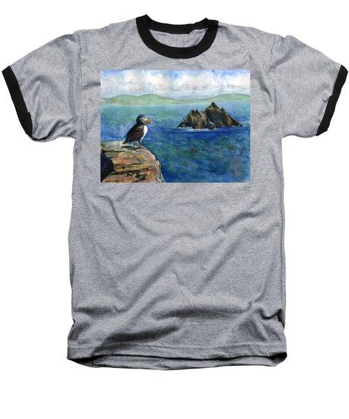 Puffin At Skellig Island Ireland Baseball T-Shirt