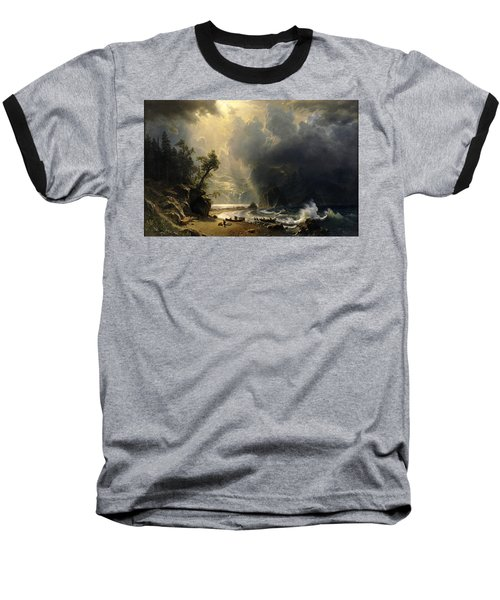 Puget Sound On The Pacific Coast Baseball T-Shirt by Albert Bierstadt