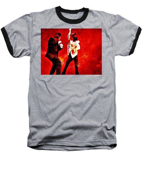 Baseball T-Shirt featuring the painting Pulp Fiction Dance 2 by Brian Reaves