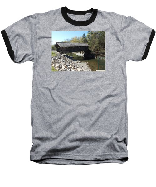 Pumping Station Covered Bridge Baseball T-Shirt by Catherine Gagne