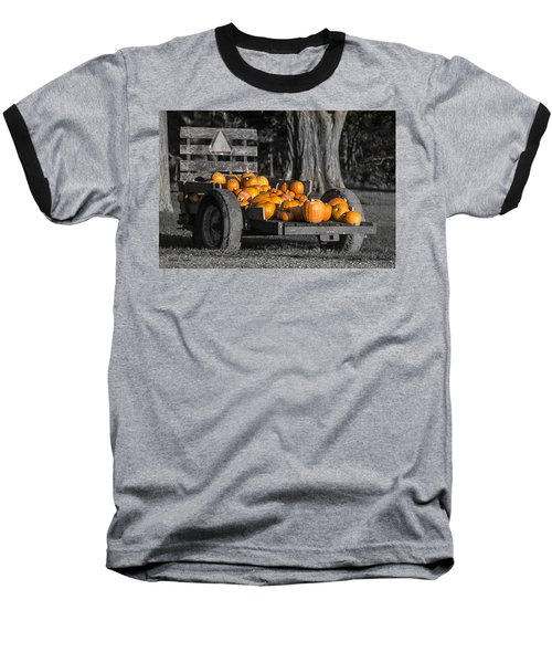 Pumpkin Cart Baseball T-Shirt