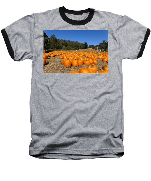 Pumpkin Farm Baseball T-Shirt
