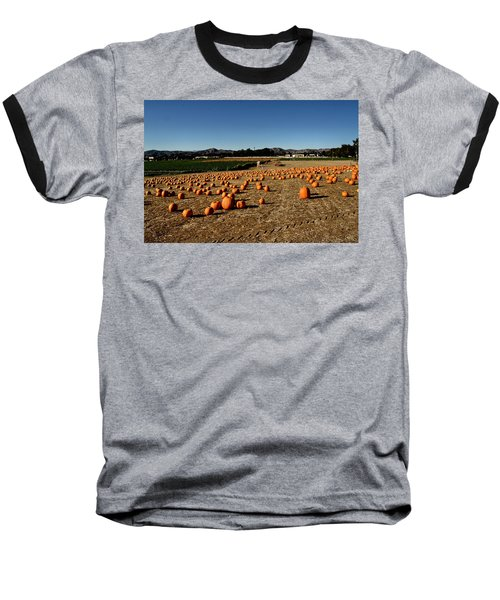 Baseball T-Shirt featuring the photograph Pumpkin Field by Michael Gordon