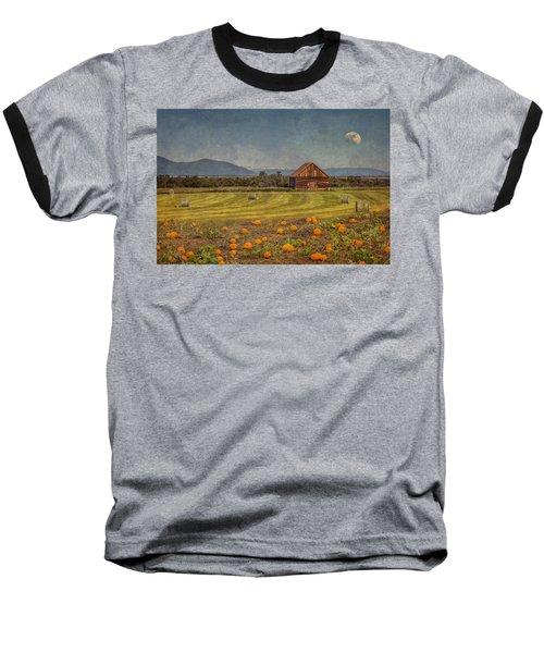 Pumpkin Field Moon Shack Baseball T-Shirt