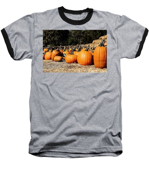 Pumpkin Goofing Off Baseball T-Shirt