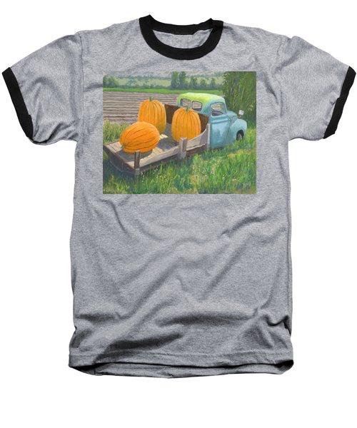 Pumpkin Truck Baseball T-Shirt