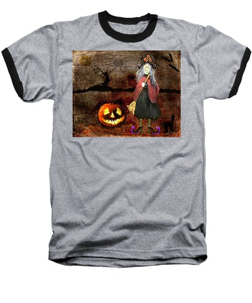 Pumpkinella The Magical Good Witch And Her Magical Cat Baseball T-Shirt