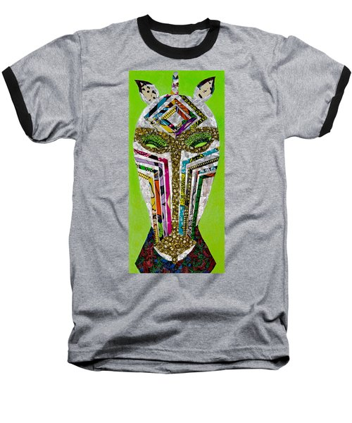 Baseball T-Shirt featuring the tapestry - textile Punda Milia by Apanaki Temitayo M