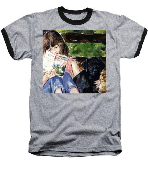 Pup And Paperback Baseball T-Shirt