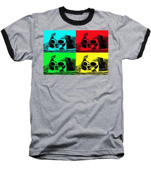 Puppy Mania Pop Art Baseball T-Shirt