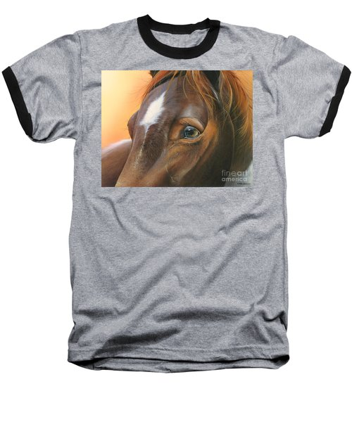 Baseball T-Shirt featuring the painting Pure Grace by Mike Brown