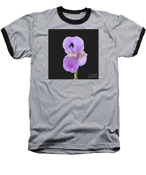 Purple Iris Baseball T-Shirt by Scott Cameron