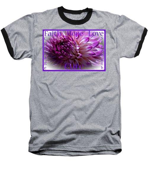 Purple Awareness Support Baseball T-Shirt