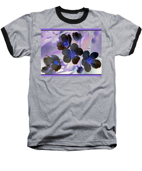 Purple Blue And Gray Baseball T-Shirt