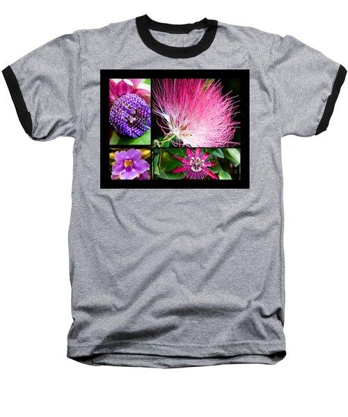 Purple Bouquet Baseball T-Shirt by Melinda Ledsome