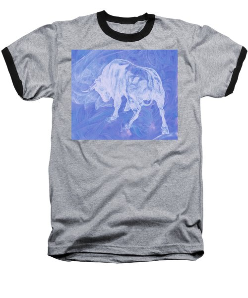 Purple Bull Negative Baseball T-Shirt