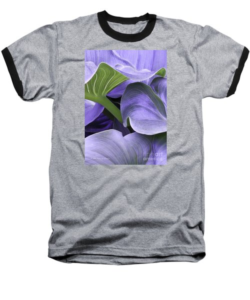 Purple Calla Lily Bush Baseball T-Shirt