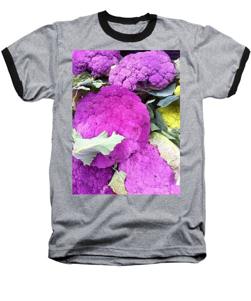 Purple Cauliflower Baseball T-Shirt
