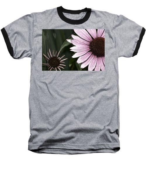 Purple Coneflower Imperfection Baseball T-Shirt