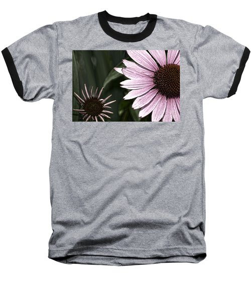 Purple Coneflower Imperfection Baseball T-Shirt