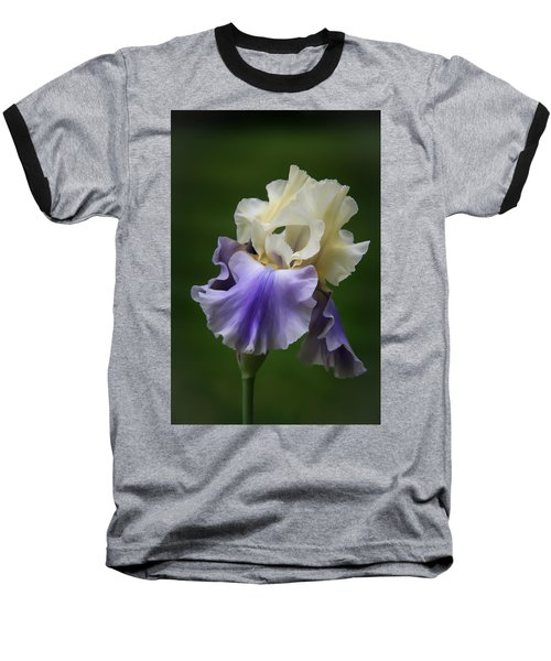 Baseball T-Shirt featuring the photograph Purple Cream Bearded Iris by Patti Deters