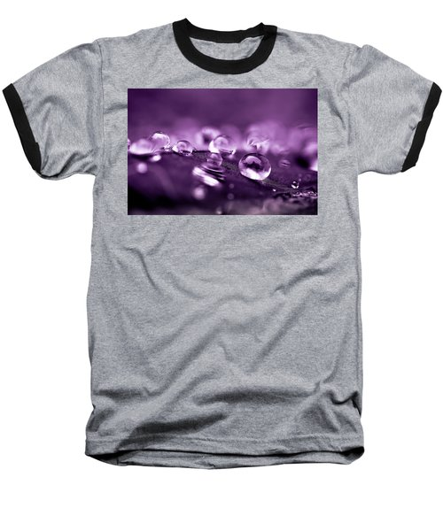 Purple Droplets Baseball T-Shirt