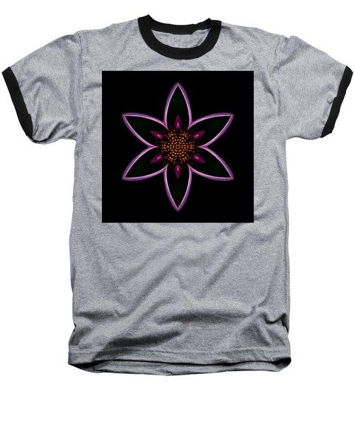 Purple Echinacea Flower Mandala Baseball T-Shirt
