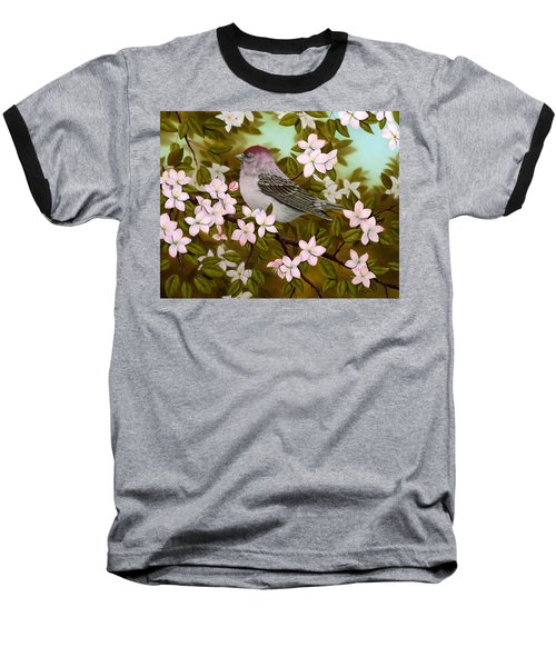 Purple Finch Baseball T-Shirt