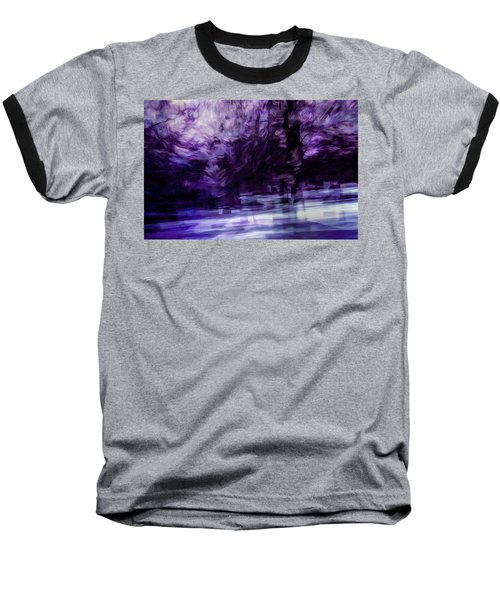 Purple Fire Baseball T-Shirt