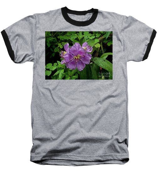 Baseball T-Shirt featuring the photograph Purple Flower by Sergey Lukashin