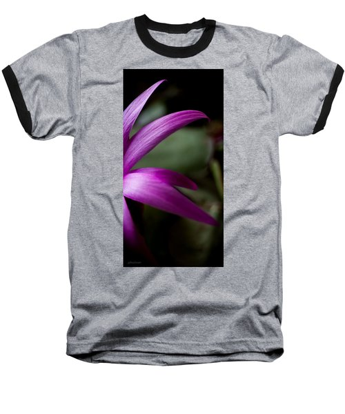 Purple Flower Baseball T-Shirt by Steven Milner