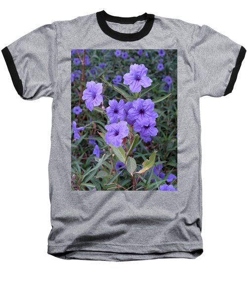 Baseball T-Shirt featuring the photograph Purple Flowers by Laurel Powell