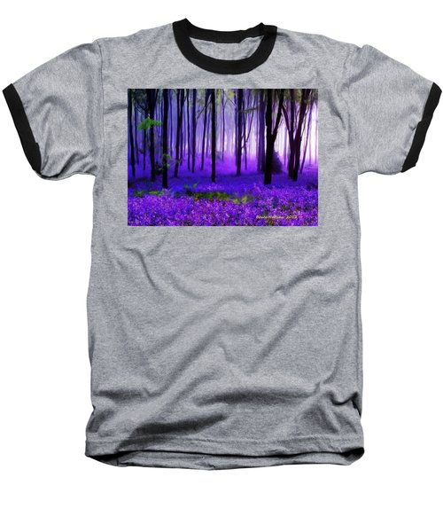 Purple Forest Baseball T-Shirt by Bruce Nutting