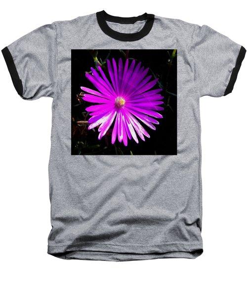 Purple Glow Baseball T-Shirt by Pamela Walton