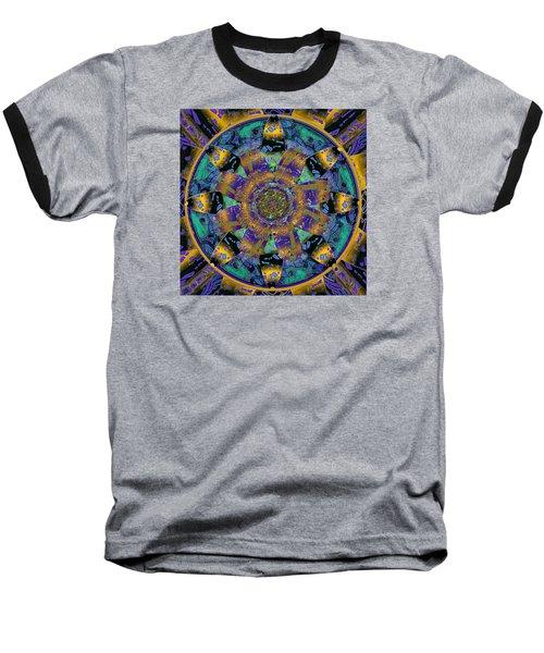 Purple Gold Dream Catcher Mandala Baseball T-Shirt