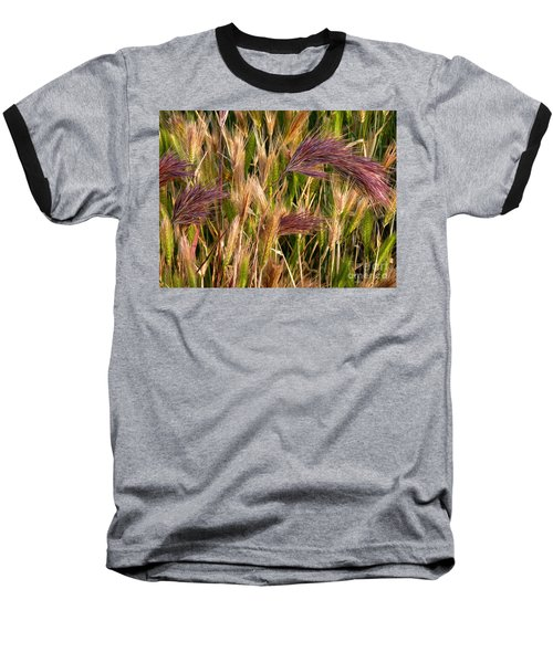 Purple Grasses Baseball T-Shirt