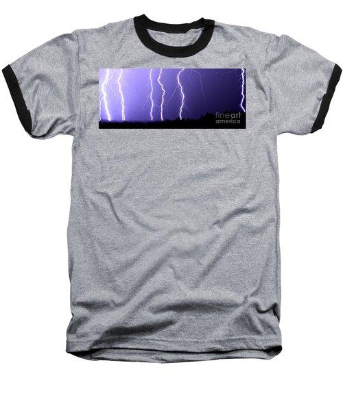 Purple Rain Lightning Baseball T-Shirt