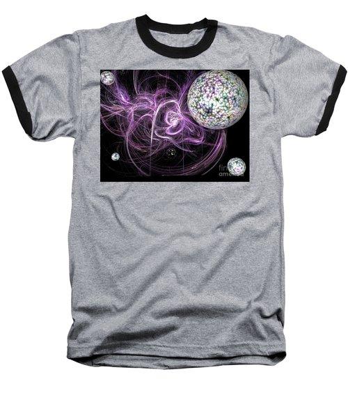 Purple Haze Baseball T-Shirt by Jacqueline Lloyd