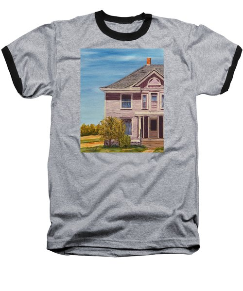 Purple House On The Prairie Baseball T-Shirt