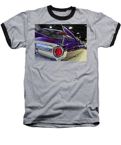Purple Kustom Kadillac Baseball T-Shirt