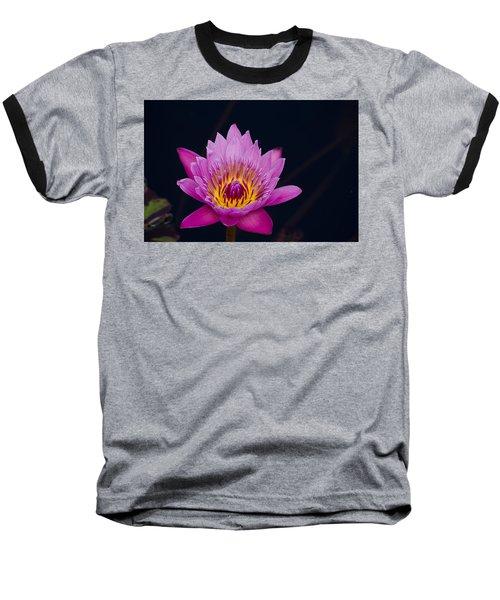 Purple Lotus Flower Baseball T-Shirt