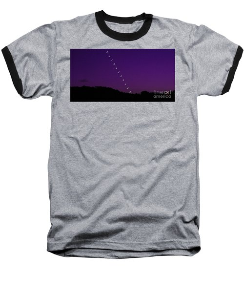 Purple Moon Setting In West Baseball T-Shirt