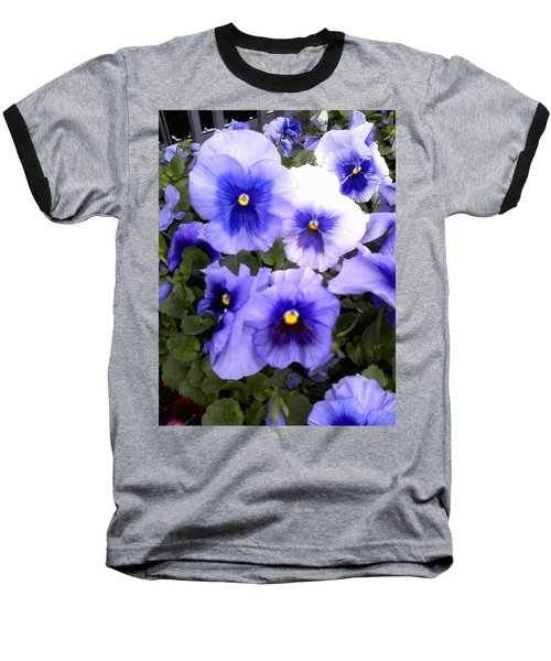 Baseball T-Shirt featuring the photograph Purple Morning Glory by Fortunate Findings Shirley Dickerson